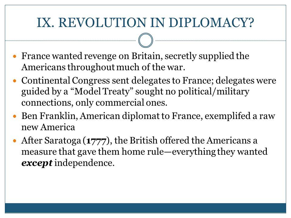 IX.REVOLUTION IN DIPLOMACY.