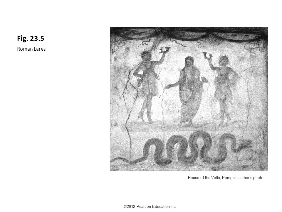 Fig. 23.5 Roman Lares ©2012 Pearson Education Inc. House of the Vettii, Pompeii; author's photo