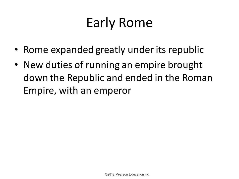 ROMAN RELIGION ©2012 Pearson Education Inc.