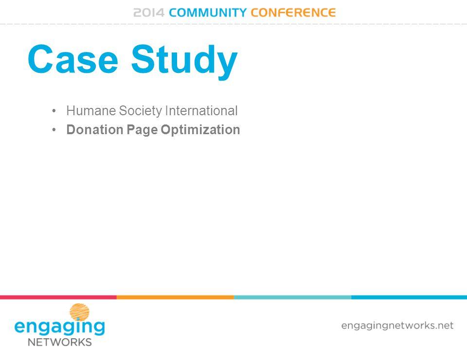 Case Study Humane Society International Donation Page Optimization
