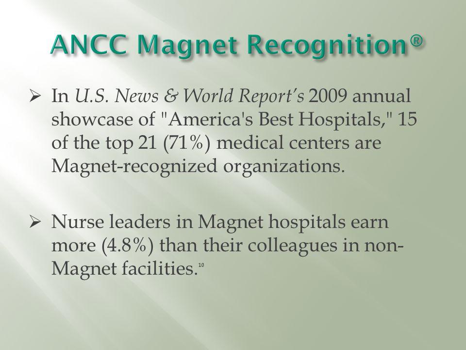  In U.S. News & World Report's 2009 annual showcase of