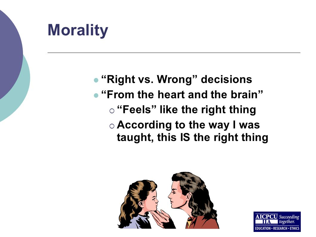 Morality Right vs.