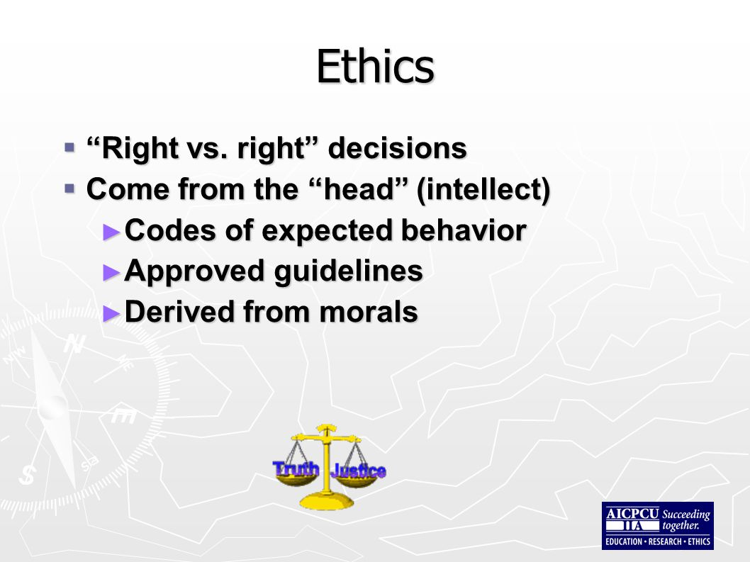 Ethics  Right vs.