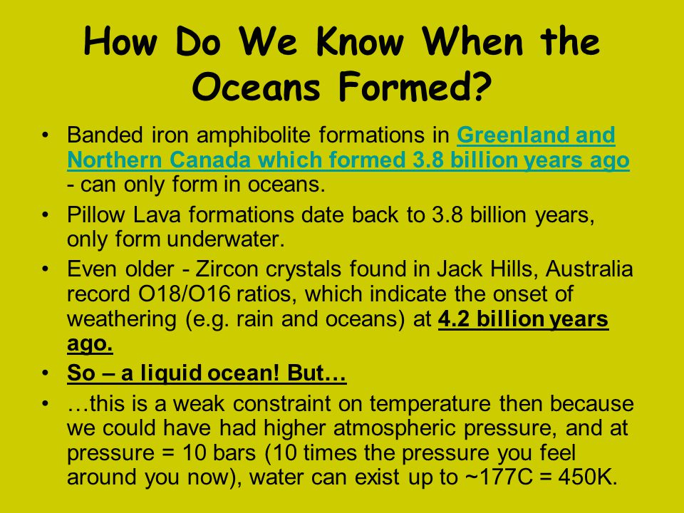 How Do We Know When the Oceans Formed.