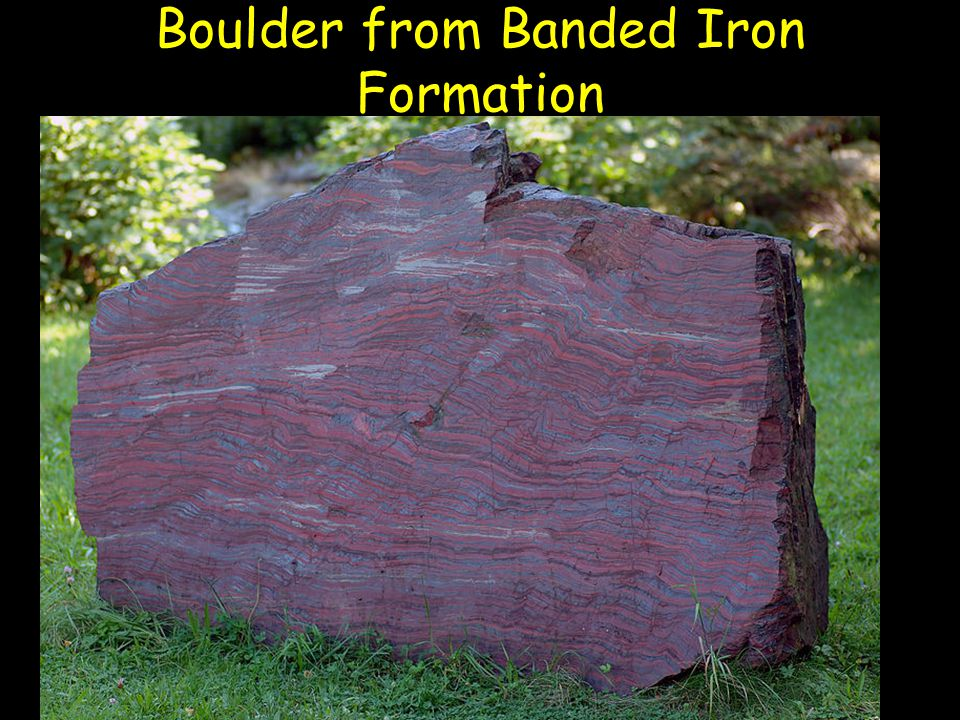Boulder from Banded Iron Formation