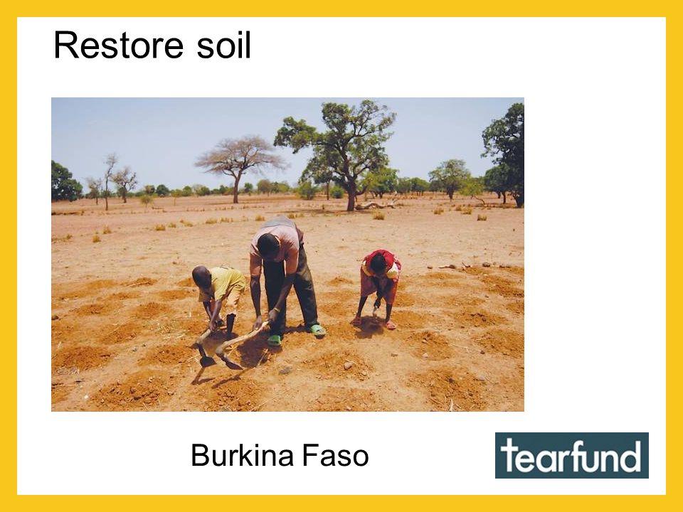 Restore soil Burkina Faso