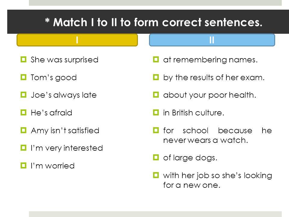 ** Complete the sentences with a suitable preposition.