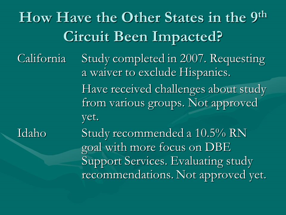 How Have the Other States in the 9 th Circuit Been Impacted.