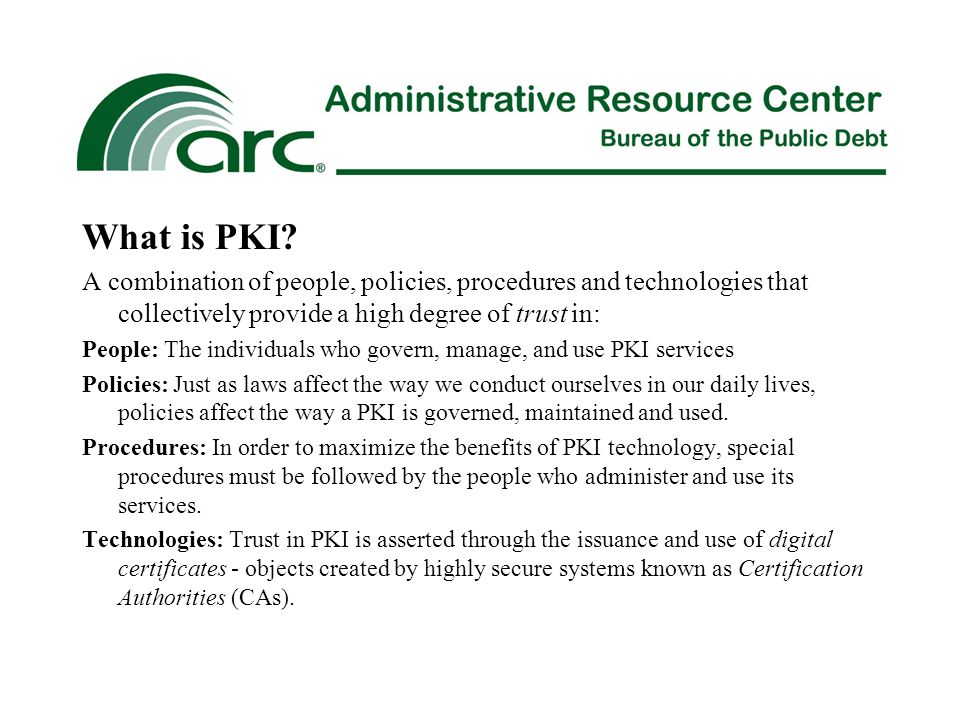 What is PKI.