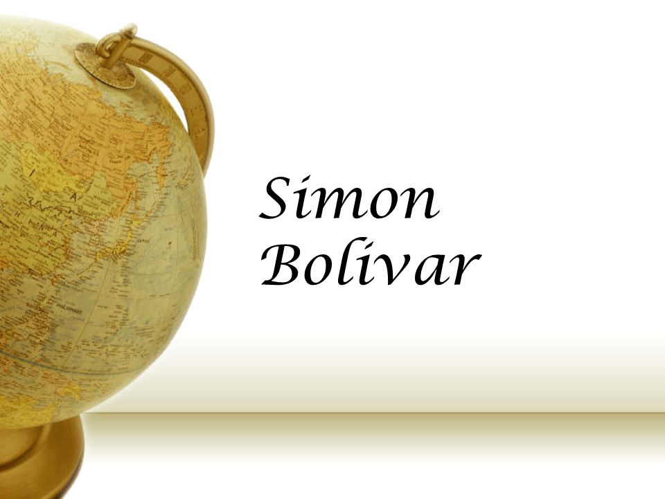 Key Events The key events of Simon Bolivar's life: BirthMarriage Pledge in RomeDeclarationPresidentLiberationDeath July 1783May 1802Aug 1805April 181018191817-1824Dec 1830 He was Born in Caracas, Venezuela He Married Maria Teresa He Pledged to liberate South America Declaration of Independence in Venezuela Became first president of Colombia and later several other Countries Liberated Columbia Peru, Ecuador, Panama, Bolivia Died at the age of 47 of tuberculos is