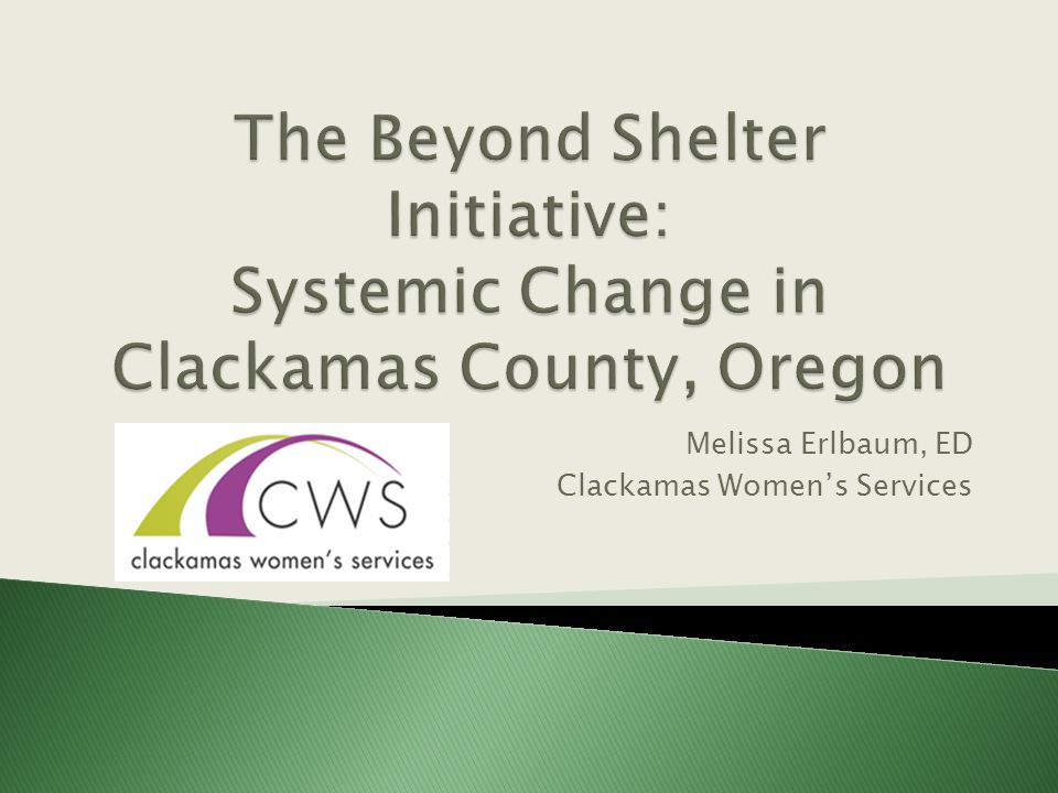 Melissa Erlbaum, ED Clackamas Women's Services