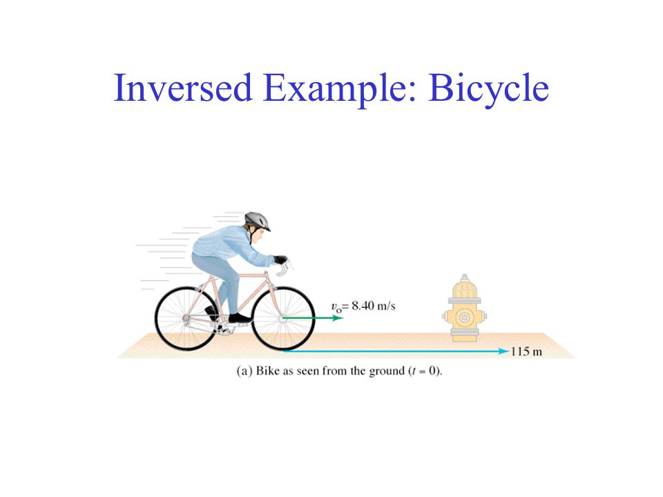 Inversed Example: Bicycle