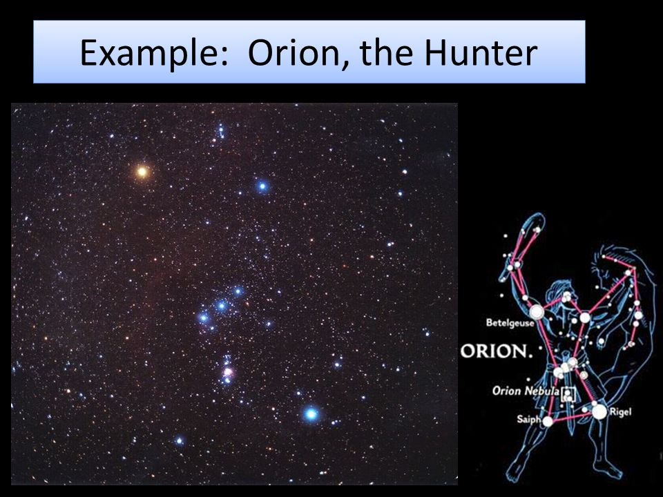 Example: Orion, the Hunter