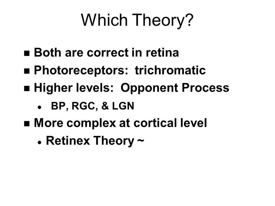 Which Theory.