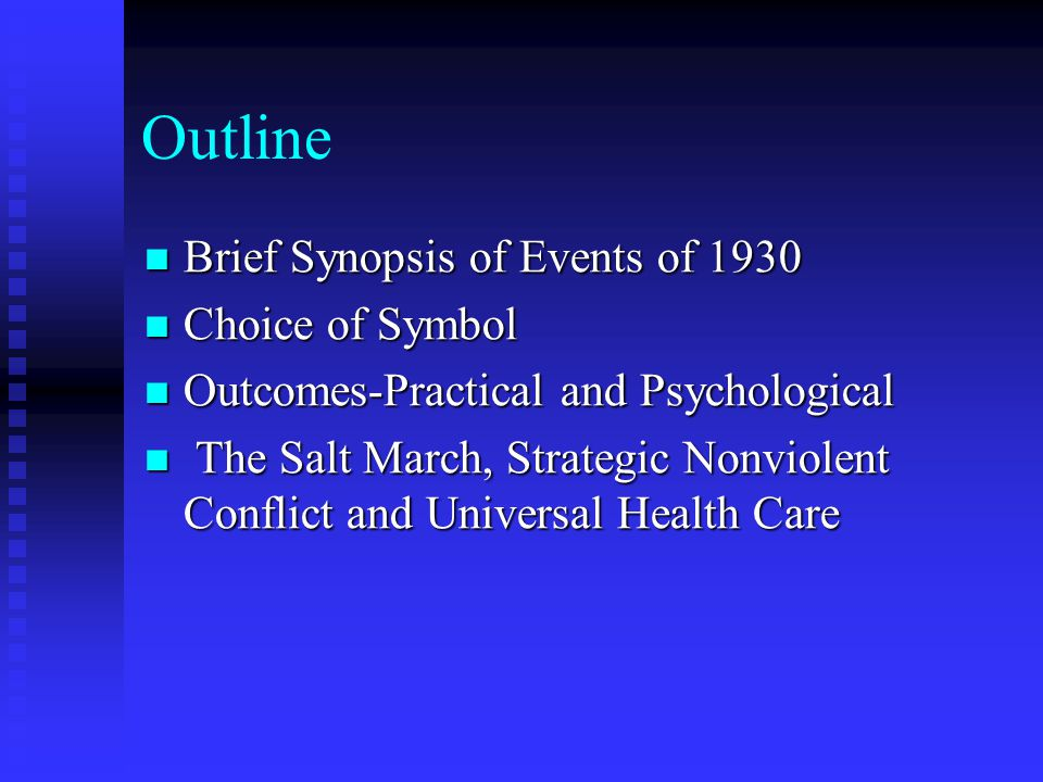 Outline Brief Synopsis of Events of 1930 Brief Synopsis of Events of 1930 Choice of Symbol Choice of Symbol Outcomes-Practical and Psychological Outco