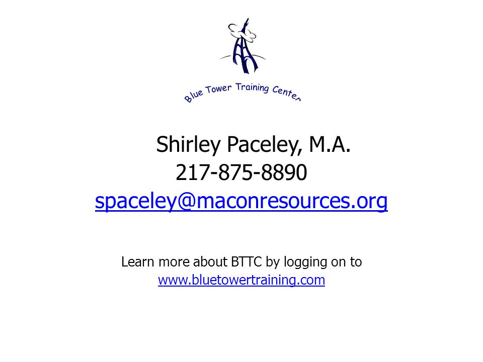 Shirley Paceley, M.A.