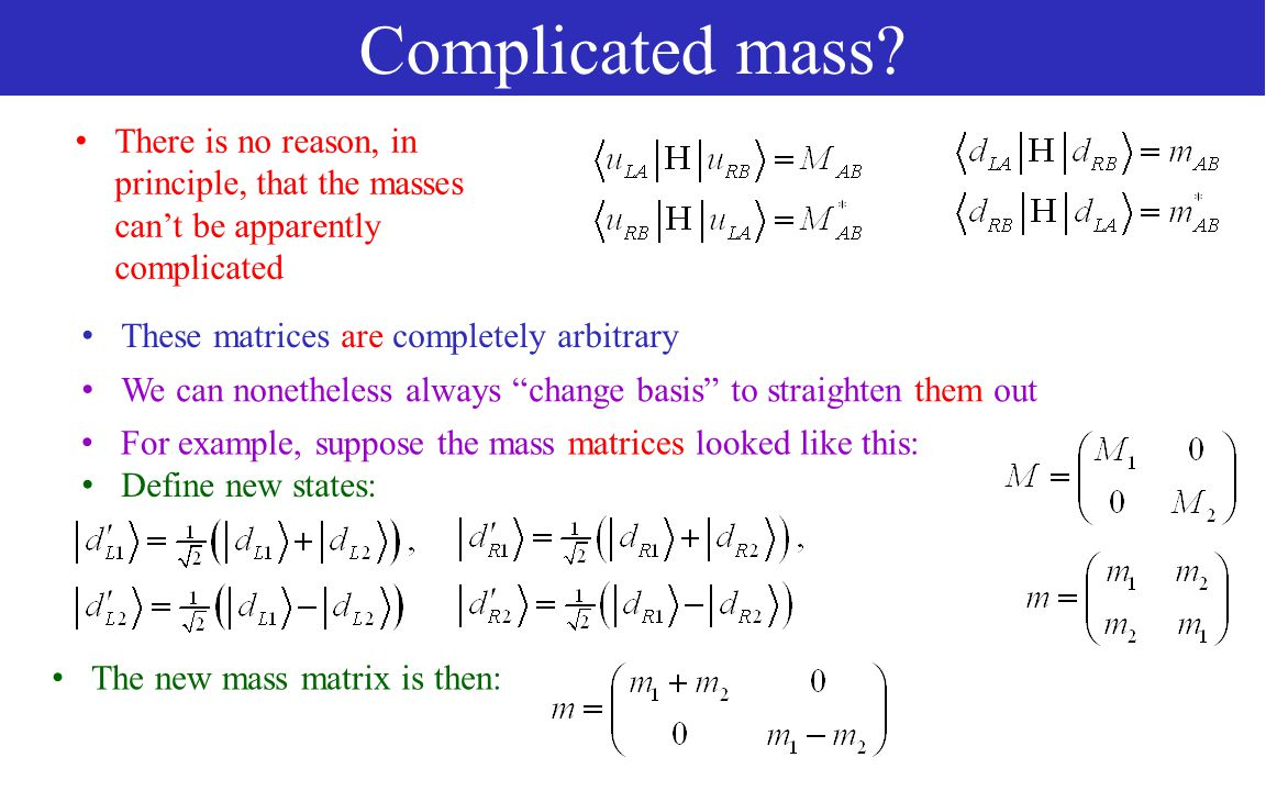 Complicated mass.