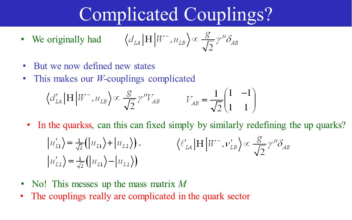 Complicated Couplings.