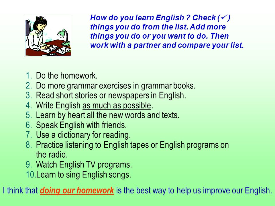 How do you learn English