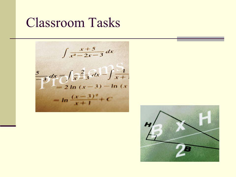 Classroom Tasks