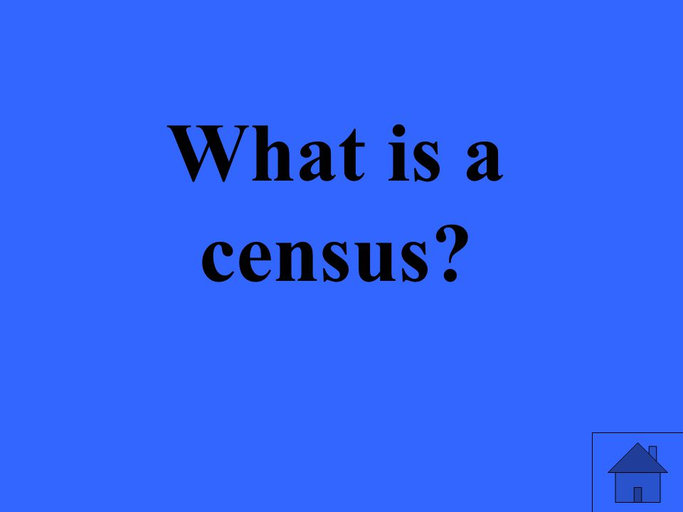 What is a census