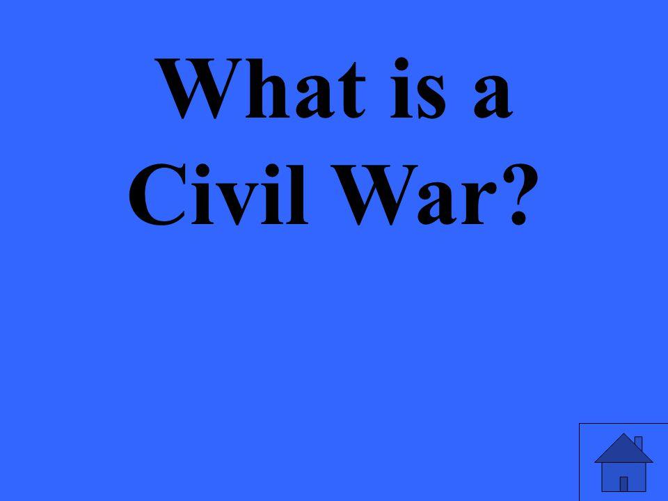 What is a Civil War?