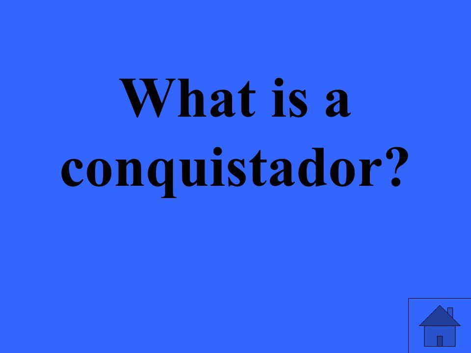What is a conquistador?