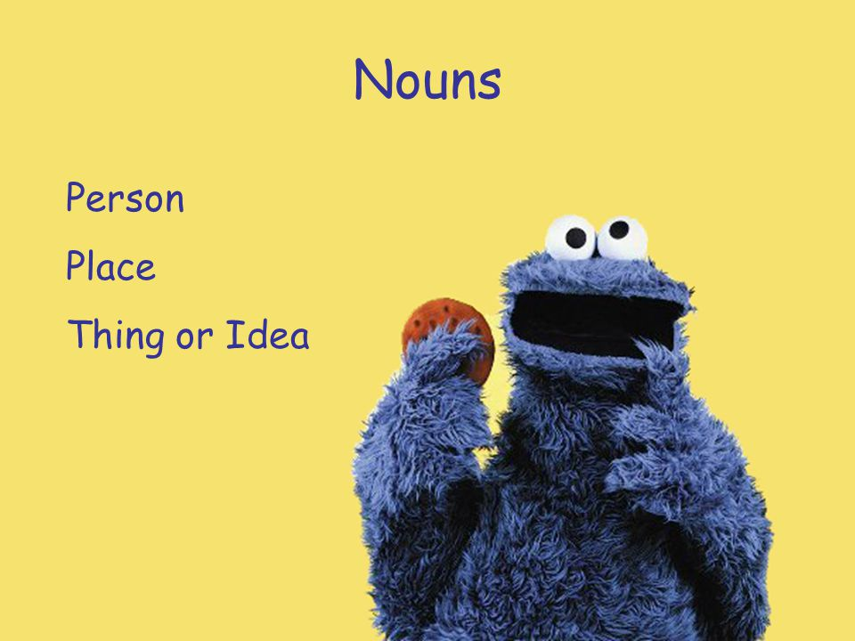 Nouns Person Place Thing or Idea