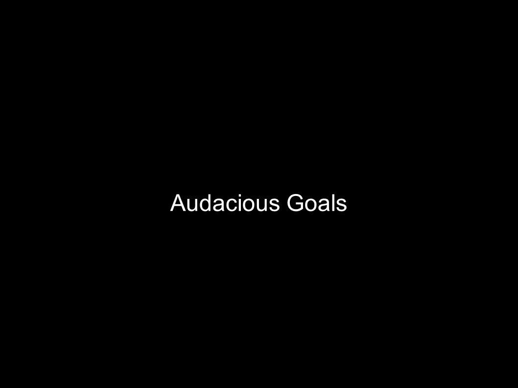 Audacious Goals