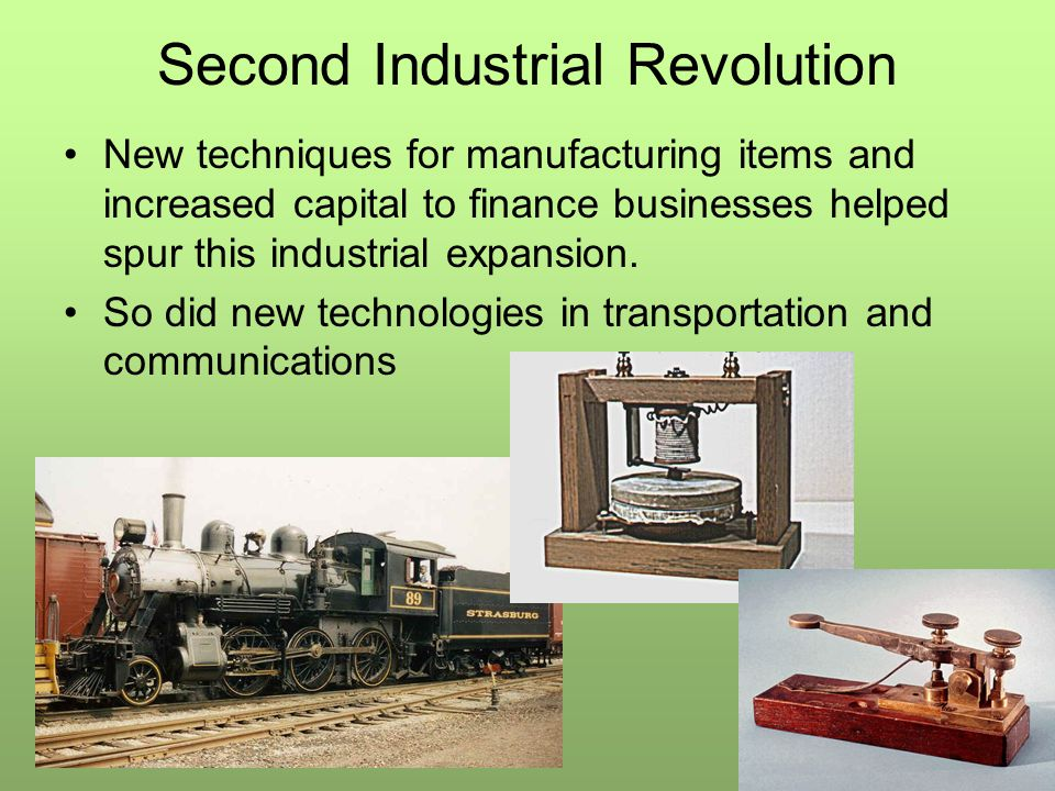 Second Industrial Revolution By 1850, railroads were just becoming a major form of transportation in Europe –Thirty years later there were over 102,000 miles of track laid primarily through the industrial heartlands of the continent