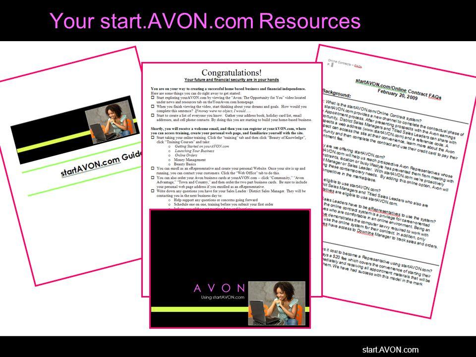 start.AVON.com Your start.AVON.com Resources