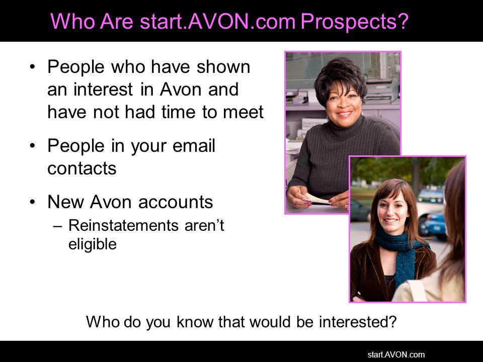 start.AVON.com Who Are start.AVON.com Prospects.
