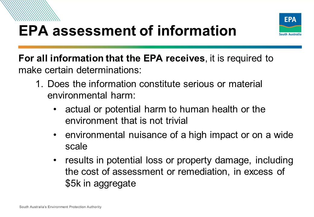 EPA assessment of information 2.If the information is submitted in accordance with s83A, is it a valid notification.