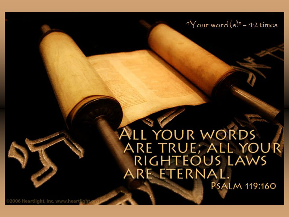 Your word (s) – 42 times