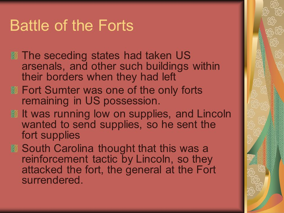 Brothers' Blood and Border Blood Border States [slave states]  Missouri, Kentucky, Maryland, Delaware, and West Virginia Border States [slave states]  Missouri, Kentucky, Maryland, Delaware, and West Virginia Lincoln wanted these states to join the union.