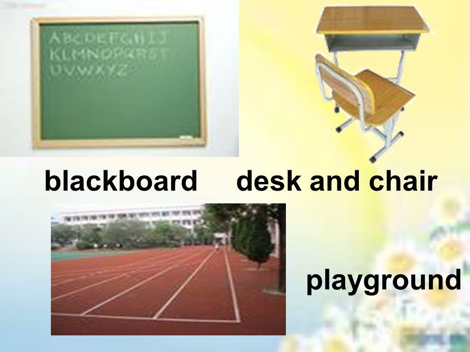 blackboarddesk and chair playground