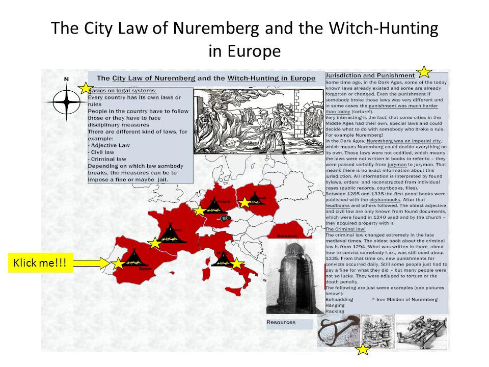 The City Law of Nuremberg and the Witch-Hunting in Europe Klick me!!!
