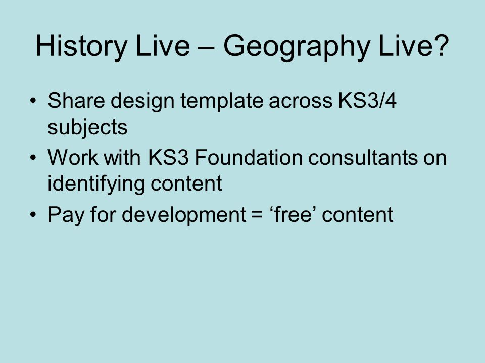 History Live – Geography Live.
