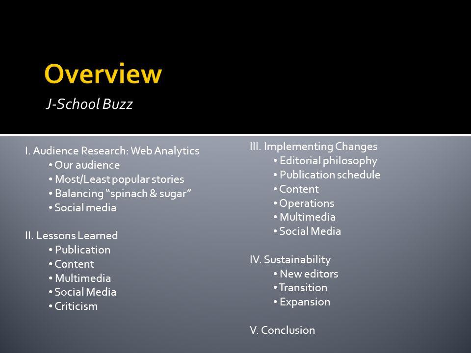 J-School Buzz I.