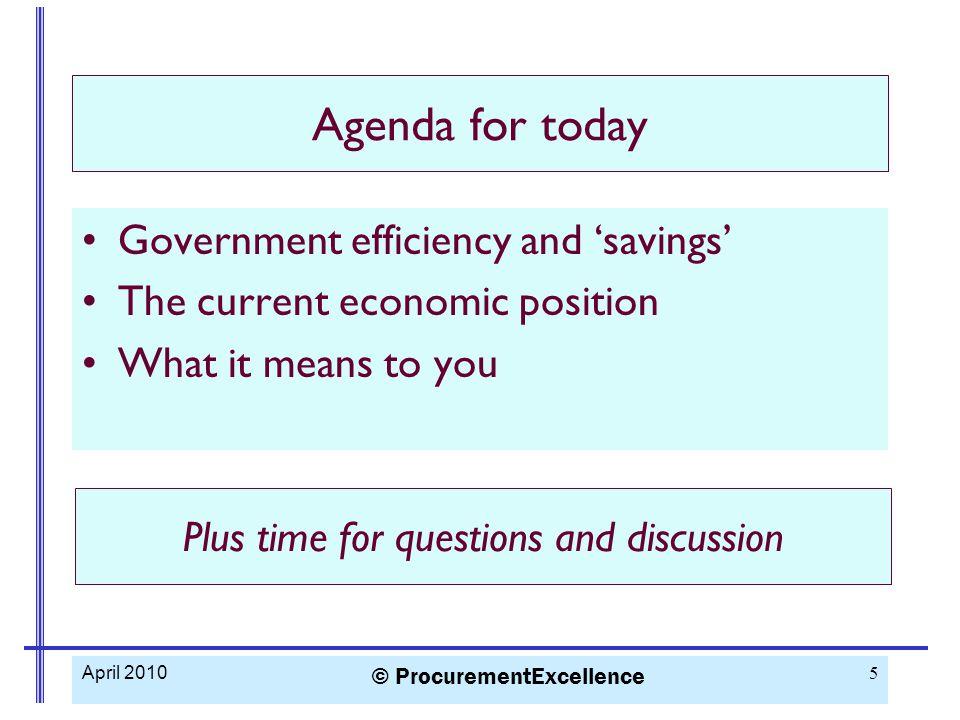Saving money DEMAND MANAGEMENT SPECIFICATION MANAGEMENT MARKET MANAGEMENT COMMERCIAL MAMNAGEMENT TRANSACTIONAL MANAGEMENT April 2010 © ProcurementExcellence 16 5 ways to save money