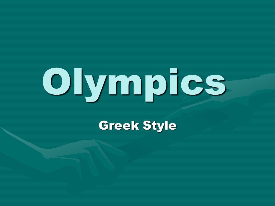 Olympics Greek Style