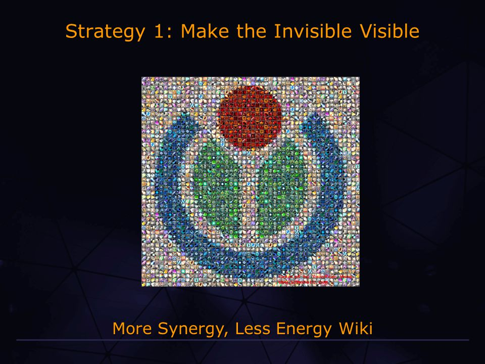 More Synergy, Less Energy Wiki Strategy 1: Make the Invisible Visible