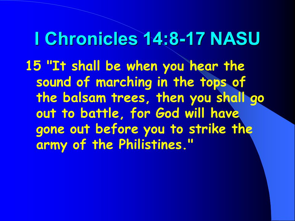 I Chronicles 14:8-17 NASU 15