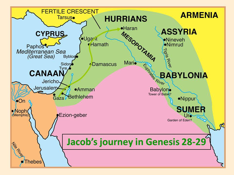 Jacob's journey in Genesis 28-29