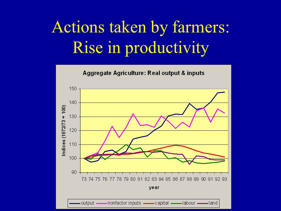 Actions taken by farmers: Rise in productivity