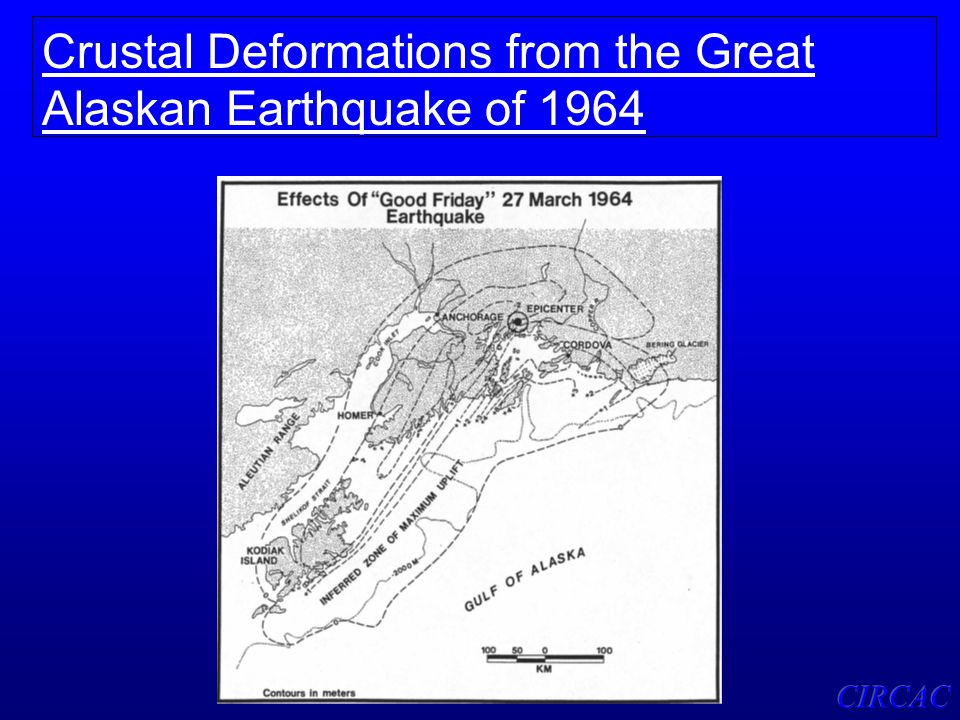 Crustal Deformations from the Great Alaskan Earthquake of 1964