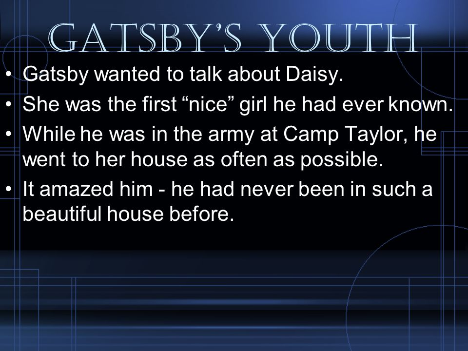 Death at the mansion Nick arrived at Gatsby s house, anxiously looking for his friend.