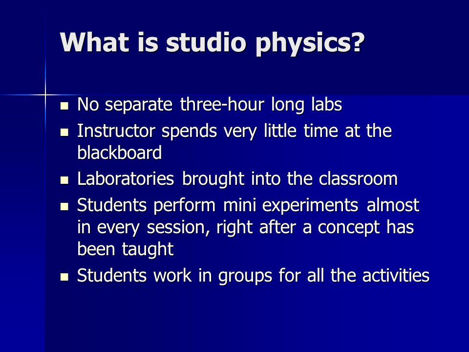 What is studio physics.