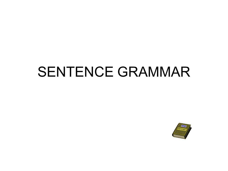 SENTENCE GRAMMAR