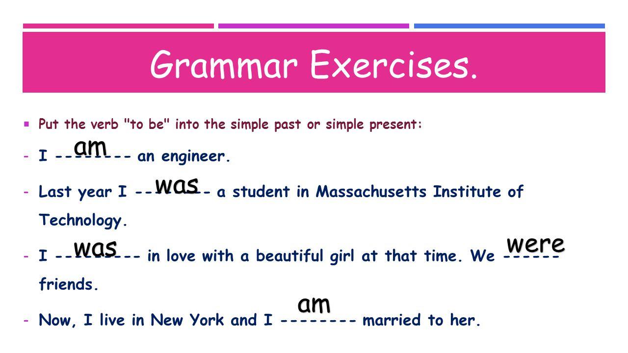 Grammar Exercises.
